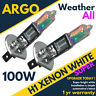 2pcs H1 100w Super White 12v Bright Xenon Halogen Headlight Light Bulbs Lamp 448