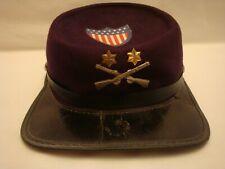 Vtg 1950's-60's Dover Civil War Kepi Childs Toy Hat w/Cross Rifles + Rank Pins