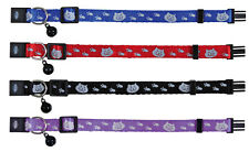 Trixie Nylon Cat Collar Printed design Reflective snap free Buckle for safety