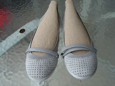 NEW COLE HAAN PERFORATED GREY SUEDE BALLET FLATS US SIZE 7
