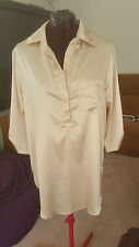 SIZE 18 / SIZE L WOMEN'S CREAM 3/4 SLEEVE 'SUPRE'' SHIRT BNWT