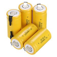 10 pièces jaune BATTERIE RECHARGEABLE SubC SC  Ni-Cd 1.2V 2200mAh Piles