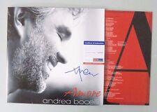 52302 Andrea Bocelli Opera Amore Signed Record Album Vinyl AUTO PSA/DNA COA
