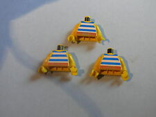 Lego 3 torses pirates set 6285 6259 6235 6257 / 3 yellow minifig torsos