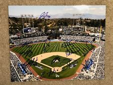 2018 LOS ANGELES DODGERS team signed 11x14 photo ~ 12 signatures