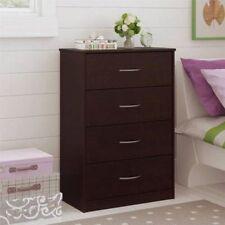 4 Drawer Dresser Chest Bedroom Furniture Storage Wood Drawers Black Forrest