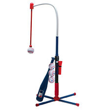 Kids Batting Tee MLB 2-in-1 Practice Baseball Bat Hanging Ball Swing Slugger Set
