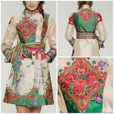 NWT NEW DESIGUAL Coat Jacket Long 46 3LARGE 3XL Asian Embroidered Lined *RARE*