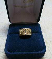 Bague en or jaune 18K et diamants