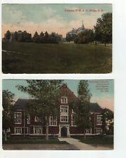 2 Antique Post Cards - Campus N.D.A.C. Fargo - University of N.D. Grand Forks