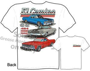 68 69 70 71 72 El Camino T shirt, Chevy Tshirt Muscle Car Tee, Sz M L XL 2XL 3XL