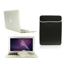 """4 in1 Rubberized CLEAR Case for Macbook Air 11""""+ Keyboard Cover+ LCD Screen+ Bag"""