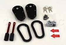 AeroCatch Plus Flush Locking Hood Latch and Pin Kit - Black - Part # 120-2100