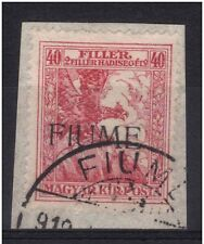FIUME RIJEKA 1918 UNGHERIA BENEFICENZA 40 filler n° 3/I-II USATO € 220,00