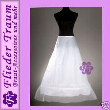 Klassiker Unterrock Reifrock Petticoat Metall Ring Umfang verstellbar, weiß