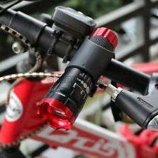 Red Head Bike Bicycle Front Light CREE Q5 Flashlight 240 lm Torch 3 modes + Clip