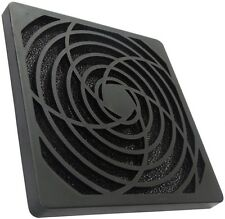 Rejilla de protección negro C15121 120x120mm con filtro 45ppi para ventilador PC