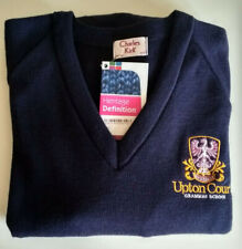 Upton Court Grammar School Jumper 6th Form Navy Colour Size 42 New with tags