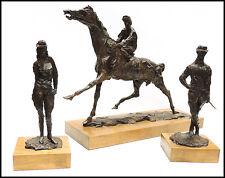 LeRoy Neiman Horse Racing Suite Bronze Sculpture Set Signed Large Artwork Rare