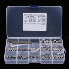 240Pcs M3/M4/M5/M6/M8 Stainless Steel Hex Socket Button Head Screws Bolt Kit