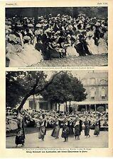 Re Sisowath cambogiano con le sue ballerine a Parigi Eliseo gart... 1906