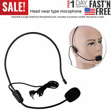 Wired Head Mounted Headset Microphone System Voice Amplifier Loudspeaker Mic New