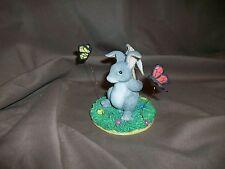 Silvestri Dean Griff Charming Tails Figurine Catchin' Butterflies Rabbit
