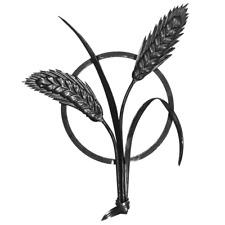 Rosette Weizen Motiv Ornament für Zäune und Geländer Eisen Gartenzaun 016.09 Tor