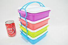 New Tupperware small stackable lunch box 4 levels + cariolier bento sandwich