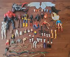 BIG FODDER LOT 75pc Marvel Legends DC Multiverse Parts Heads Customs Accessories