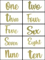 "GOLD Glitter Birthday NUMBER Cake Topper 5.5"" Wide by 3.5"" Tall Choose Number"