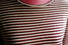 Isabel Marant Etoile Kaaran red/black  Striped Top Long Sleeve Size M NEW