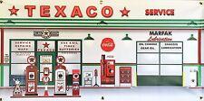 TEXACO VINTAGE GAS STATION SCENE WALL MURAL SIGN BANNER SHOP GARAGE ART 2 X 4