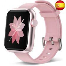 Reloj inteligente para hombres, mujeres, rastreador de ejercicios con  (01 Rosa)