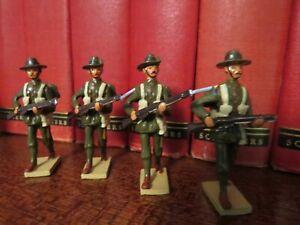 WW1 Australian Metal Toy Soldiers x 4