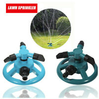 Rotary lawn sprinkler with adjustable end nozzle, Garden watering Rotation 360°
