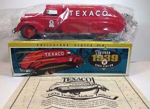 1939 ERTL TEXACO DODGE AIRFLOW  BANK 10th IN SERIES DIECAST  NEW IN BOX