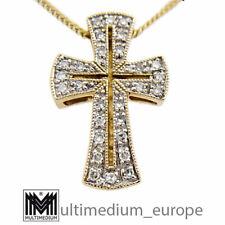 333er Gelbgold Kreuz Anhänger Diamanten gold cross pendant diamonds 🌺🌺🌺🌺🌺