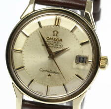 OMEGA Constellation Pie Pan Dial Automatic cal.561 Leather Men's watch_375693