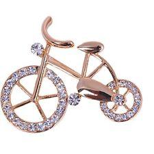 Pins Shape Jewelry Gift Unisex Rhinestone Bike Elegance Gold Twinkle Brooch