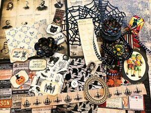 Vintage Gothic Halloween Mega Lot-junk journaling, card making, scrapbooking
