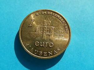 MONNAIE  1 EUROS DE VILLE 1997  AUBENAS CHATEAU ARDECHE