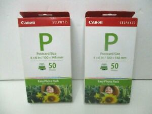 2x Canon Selphy ES - Easy Photo Pack E-P100/ Ink &paper 100 Postcards new