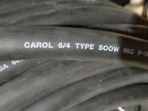 Carol 01824 6/4C Carolprene SOOW 600V/90C Portable Power Cord Black /5ft