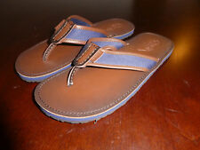 Polo Ralph Lauren Flip Flops thongs mens shoes Sullivan brown navy