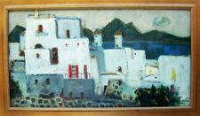 Fantastic Greek O/B Seascape Jeanne LANGLOIS-BELLOT (1894-1986) French Listed