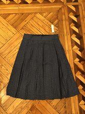 NWT New J.crew Jcrew Double-pleated midi skirt in polka dot Sz 4