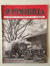 AUTOMOBILIA N°501 MARS 1948 LE PLAN DE PRODUCTION DE TRACTEURS AGRICOLES