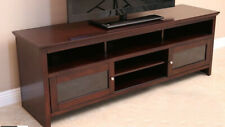 Dark Wood Tone Tv Stands Amp Entertainment Units For Sale Ebay