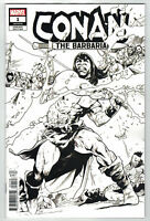 Conan the Barbarian #1 Mahmud Asrar Party Sketch B&W Variant 1 Per Store Marvel